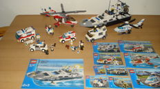 City - 9 sets including 7899 + 7903 - Police Boat + Rescue Helicopter