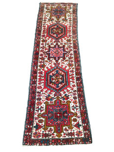 Remarkable Persian rug: Antique Heriz 175 x 55 cm - Iran - circa 1940