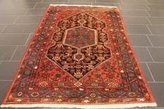 Persian carpet, Malayer, 150 x 220 cm, made in Iran, old rug, collector's item