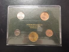 "The Netherlands -year pack/ year collection 1974 ""Issued by the  Jacques Schulman company during the 100th anniversary in 1980""."
