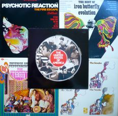 US 1960's Psych - Lot of 10 albums (various labels 1966-1971) - US and other press
