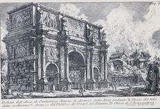 Three prints after Giovanni Battista Piranesi (1720-1778) Veduti  - 1765 - Printed and framed in 1949