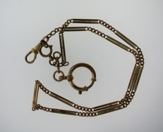 Gold Filled Art Deco Pocket Watch Chain 1900