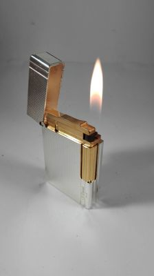S.T. Lighter Silver plated Dupont Argent G
