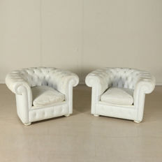 Unknown designer – Chesterfield armchairs.