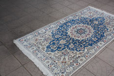 Amazing & Original Persian Iran Isfahan 202x107 cm finely hand knotted 500000 knots around 2000