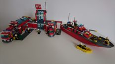 City - 7945 + 7906 - Fire Station + Fire Boat