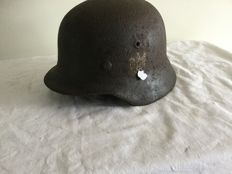 German helmet M-40WO2. Inner Ring, Decal. Wehrmacht
