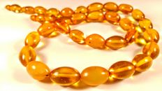 Vintage genuine Baltic Amber necklace, 59 grams