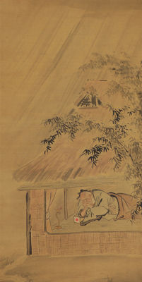 Tosei – painting on scroll – Japan, 2nd half of the 19th Century