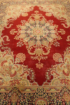 Wonderful Hand-Knotted Laver Kerman Persian Oriental Carpet, 240 X 320cm