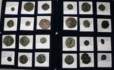 Byzantine Empire -  Lot of 24 coins from 500 AD to 1100 AD - All classified