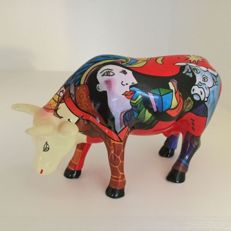 Cowparade - Hommage to Picowso's Africain Period - medium - ceramic in box