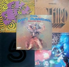 UK 1960's / 1970's Psych - Soft Machine - Lot of 5 albums (incl. one double) (Get Back / ABC-Probe / CBS / Harvest 1967-1976) - UK and other press