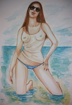 Original artwork; Vitto - Al mare - 2016