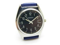 Tissot watch from the 1960s/1970s in steel, with a blue dial – Swiss made