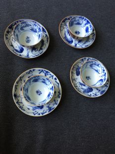 Cups and saucers – China – 18th century