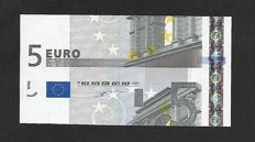 European Union - Germany - 5 euro 2002 Duisenberg - Intentionally wrong cut