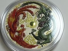 Australia - 1 AUD - Phoenix and Dragon 1 oz - Exclusive Colour Edition