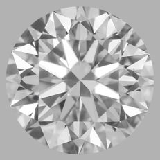 0.33 Carat Round Brilliant  Diamond, D  IF, 3EX  Cert: GIA #DIA86