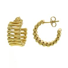 "Chimento, ""Bamboo Over"" yellow gold earrings, width: 1 cm, length: 2 cm"