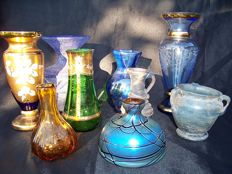 Czech Bohemian and Austrian Glass Vase Collection