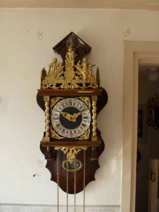 'Zaanse' clock - Burr walnut - WUBA - Period 1960s/1970s