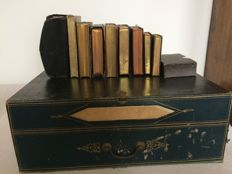 A collection of 9 French religious books and archive box - 19th / early 20th Century