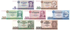 Germany (GDR) - 5, 10, 20, 50, 100, 200 and 500 Marks 1971-1985 - Pick 27 to 33
