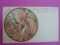 Postcard after Alphonse Mucha - January - 1901