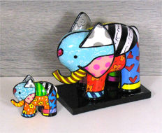 Romero Britto - 2 Elephants