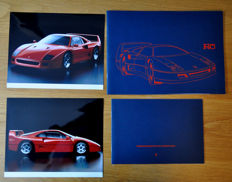 Ferrari F40 full press kit / brochure  1989. Photographs German text.