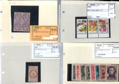World lot in binder – 1889-1987 – with descriptive cards