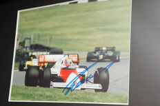 Professionally framed image, personally signed by Niki Lauda