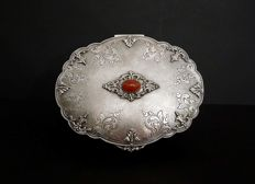 Large jewelry box with agate - ITALY, MID XXth c
