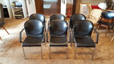 Kembo Holland – six black chrome designer seats.