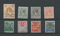 The Netherlands 1920/1930 – Clearance, Exhibition and Child with vertical watermark – NVPH 104, 136/138, 199a/202a