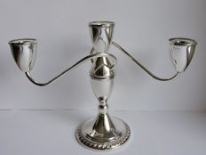 Silver three armed candle stand, Duchin, United States