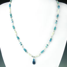 Necklace with Roman glass and shell beads - 56 cm