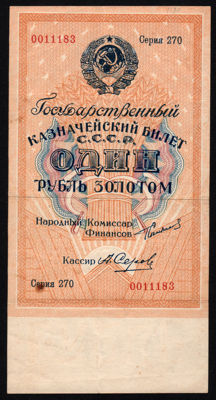 Russia - 1 Ruble 1924 - Pick 186