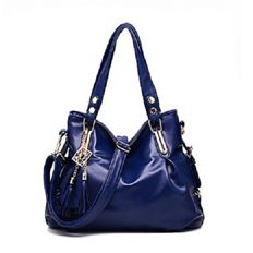 Deep blue shoulder strap bag - Selection