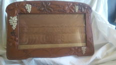 Pressed leather Art Nouveau picture frame
