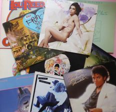 Lot of 10 classic 80's albums (12 lp's) by: Prince (2), Stevie Wonder, Queen (2), Fleetwood Mac, Dire Straits, Michael Jackson, Tina Turner and Lou Reed