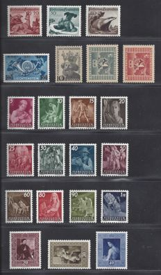 Liechtenstein 1945/1953 – Selection various sets