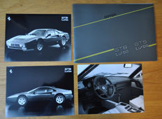 Ferrari GTB Turbo & GTS Turbo  full press kit  1986. Photographs Italian text.