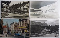 Switzerland lot of 850 postcards sorted by canton of the 1950s