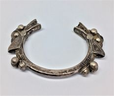 Handmade Hmong Tribes of Laos- Bangle -  Depicting a dragon with 2 heads