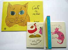 Andy Warhol - Lot with 2 art books on cats - 1988 / 1993