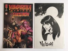 Vampirella Strikes #5 (Convention sketch variant) - Rare limited edition + Original drawing - 1st edition - (1998)