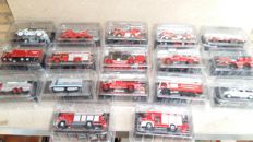 Del Prado - Scale 1/43-1/80 - Lot with 34 models: 34 x Brandweerwagens Fire Engine of the World